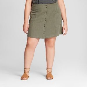 Universal Thread Olive Green Mini Skirt